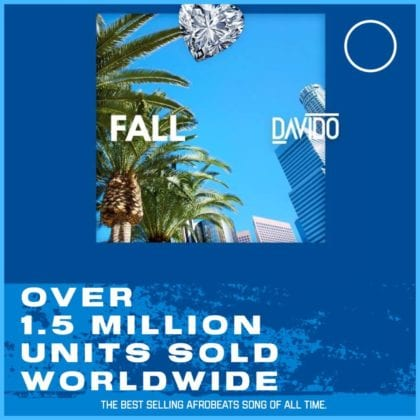 """Davido 2017 hit song """"Fall"""" becomes the best selling Afrobeats song of all time (Details)"""