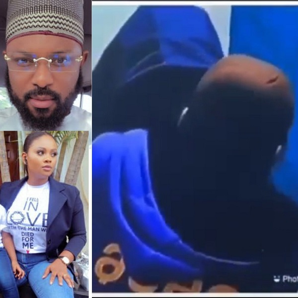 BBNaija's Tega's husband reacts after she allowed male housemate, Saga, suck her breast on live TV (video)