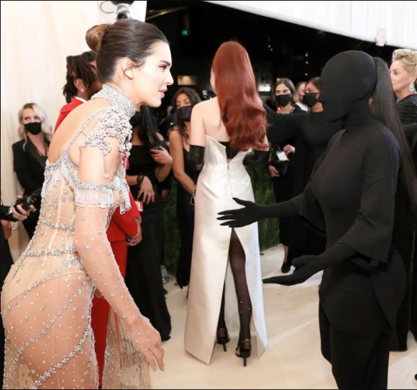 Kim Kardashian reveals she couldn't see her sister, Kendal Jenner through her Met Gala outfit